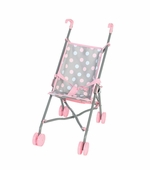 Castle Toy <br />Doll Umbrella Stroller in Grey/Pink