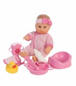 "Castle Toy<br />Lissi Drink n' Wet Baby 12"" Doll"