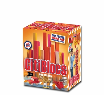 Citiblocs <br />100 Piece Hot Color Building Set