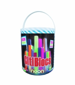 Citiblocs <br />100 Piece Neon Barrel Building Set
