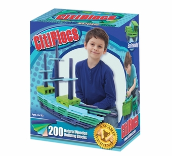 Citiblocs <br />200 piece Cool Color Building Block Set