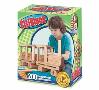 Citiblocs <br />200 Piece Natural Wooden Building Set