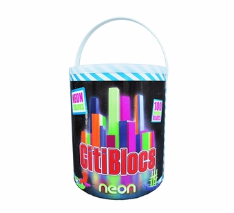 Citiblocs <br />Neon pieces Building Block Set