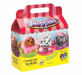 Creativity for Kids <br />Bobble Head Diva Puppies Kit