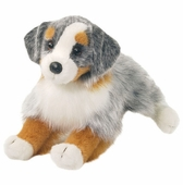 "Douglas Cuddle Toys <br />Australian Shepard Dog 16"" Stuffed Animal"