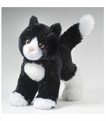 "Douglas Cuddle Toys <br />Black/White Snippy Cat 8"" Stuffed Animal"