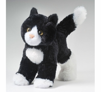 Douglas Cuddle Toys <br />Black/White Snippy Cat 8