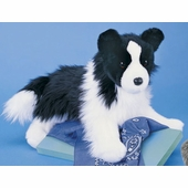 "Douglas Cuddle Toys <br />Chase Border Collie Dog 16"" Stuffed Animal"