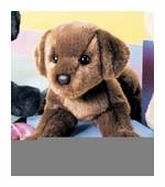 "Douglas Cuddle Toys <br />Cocoa Chocolate Lab Dog 16"" Stuffed Animal"
