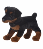 "Douglas Cuddle Toys <br />Fred Rottweiler Dog 16"" Stuffed Animal"