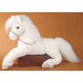 "Douglas Cuddle Toys <br />Grace White Stuffed Horse 22"" Stuffed Animal"