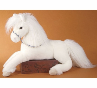 Douglas Cuddle Toys <br />Grace White Stuffed Horse 22