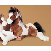 "Douglas Cuddle Toys <br />Indian Paint Natches Horse 27"" Stuffed Animal"