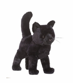 "Douglas Cuddle Toys <br />Midnight Cat 12"" Stuffed Animal"