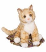 Douglas Cuddle Toys <br />Peaches Orange Tiger Cat Stuffed Animal