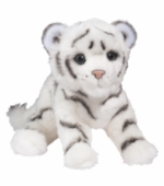 "Douglas Cuddle Toys <br />Silky White Tiger Cub 12"" Stuffed Animal"