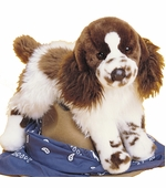"Douglas Cuddle Toys <br />Springer Spaniel Dog 16"" Stuffed Animal"