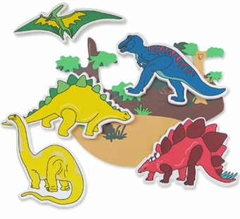 Edushape <br />Dinosaur Stickers Bath Toy