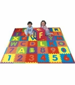 Edushape <br />Eduitiles Floor Mat of Letters & Numbers