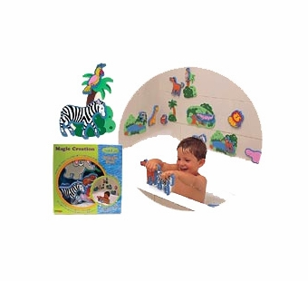 Edushape <br />Jungle Foam Stickers Bath Toy