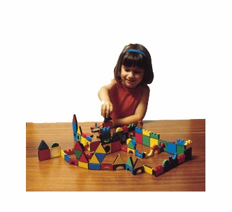 Edushape <br />Magnetic Shapes with board- 54 pieces