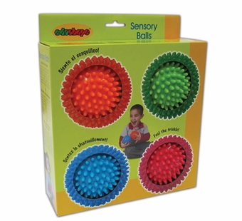 Edushape <br />Sensory Ball Set of 4 (Opaque)