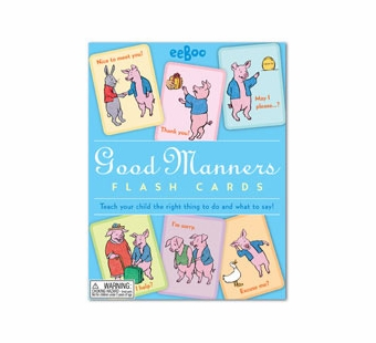 eeBoo <br />Good Manners Flash Cards
