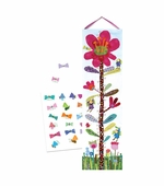 eeBoo <br />Hot Pink Flower Growth Chart