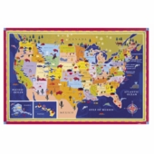 eeBoo <br />United States Wall Map With Stickers