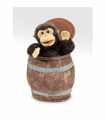 Folkmanis Puppets <br />Monkey in a Barrel Puppet