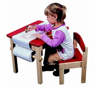 Guidecraft <br />Art Table & Chair (Red)