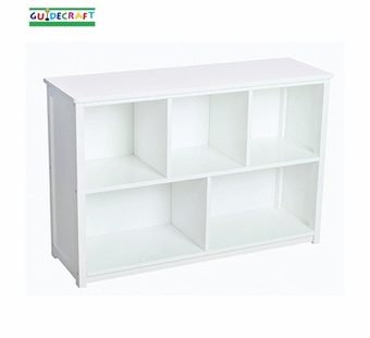 Guidecraft <br />Classic Children's White Bookshelf