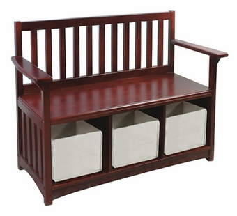 Guidecraft <br />Classic Espresso Children's Bench & Bins