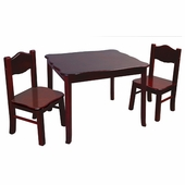 Guidecraft <br />Classic Espresso Children's Table & Chairs Set