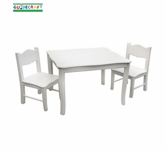 Guidecraft <br />Classic White Children's Table & Chairs Set