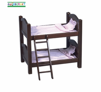 Guidecraft <br />Doll Bunk Bed (Espresso)