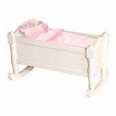 Guidecraft <br />Doll Cradle (White)