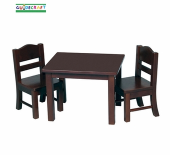 Guidecraft <br />Doll Table & Chair (Espresso)