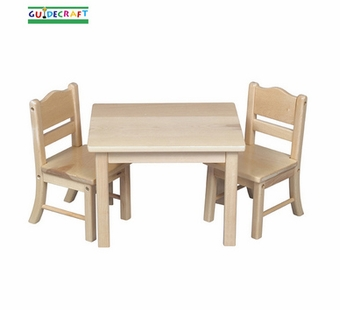 Guidecraft <br />Doll Table & Chair (Natural)