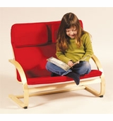 Guidecraft <br />Kiddie Couch (Red)