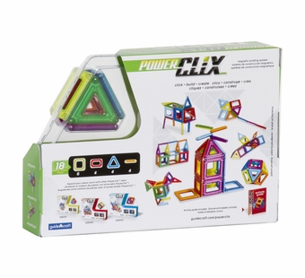 Guidecraft <br />Magnetic PowerClix 18 pc Set