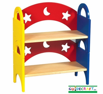 Guidecraft <br />Moon & Stars Children's Stacking Bookshelf