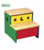 Guidecraft <br />Moon & Stars Children's Step-Up Bench