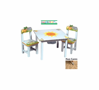 Guidecraft <br />Safari Children's Table & Chairs
