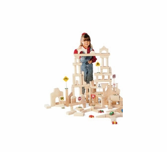 Guidecraft <br />Wood Unit Blocks (110 Pieces)
