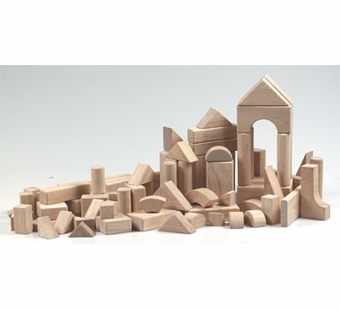 Guidecraft <br />Wood Unit Blocks (76 Pieces)