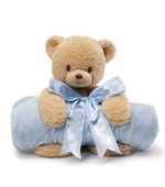 Gund <br />Teddi Blanket Bear Blue