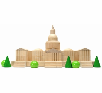 Haba <br />Wood Capitol Architectural Building Blocks