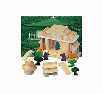 Haba <br />Wood Japanese House Architectural Building Blocks