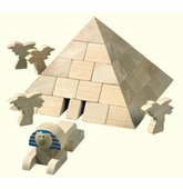 Haba <br />Wood Pyramid Architectural Buidling Blocks